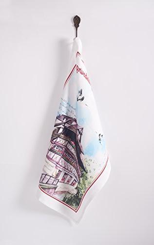 Maison Mulhouse 100% 3 Kitchen Towels Inch 27.5