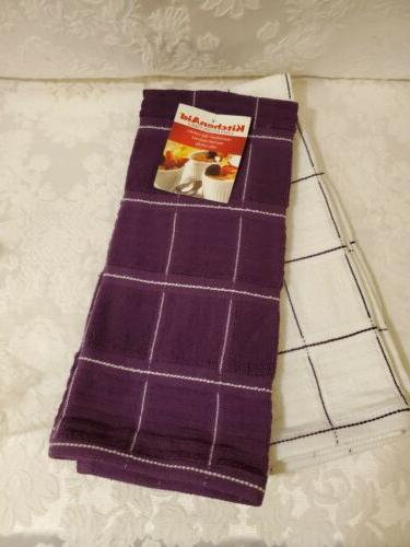 new aid 2 pack towels plum boysenberry