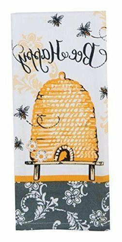 NEW - Kay Dee Designs Bumble Bee Happy Kitchen Terry Towel