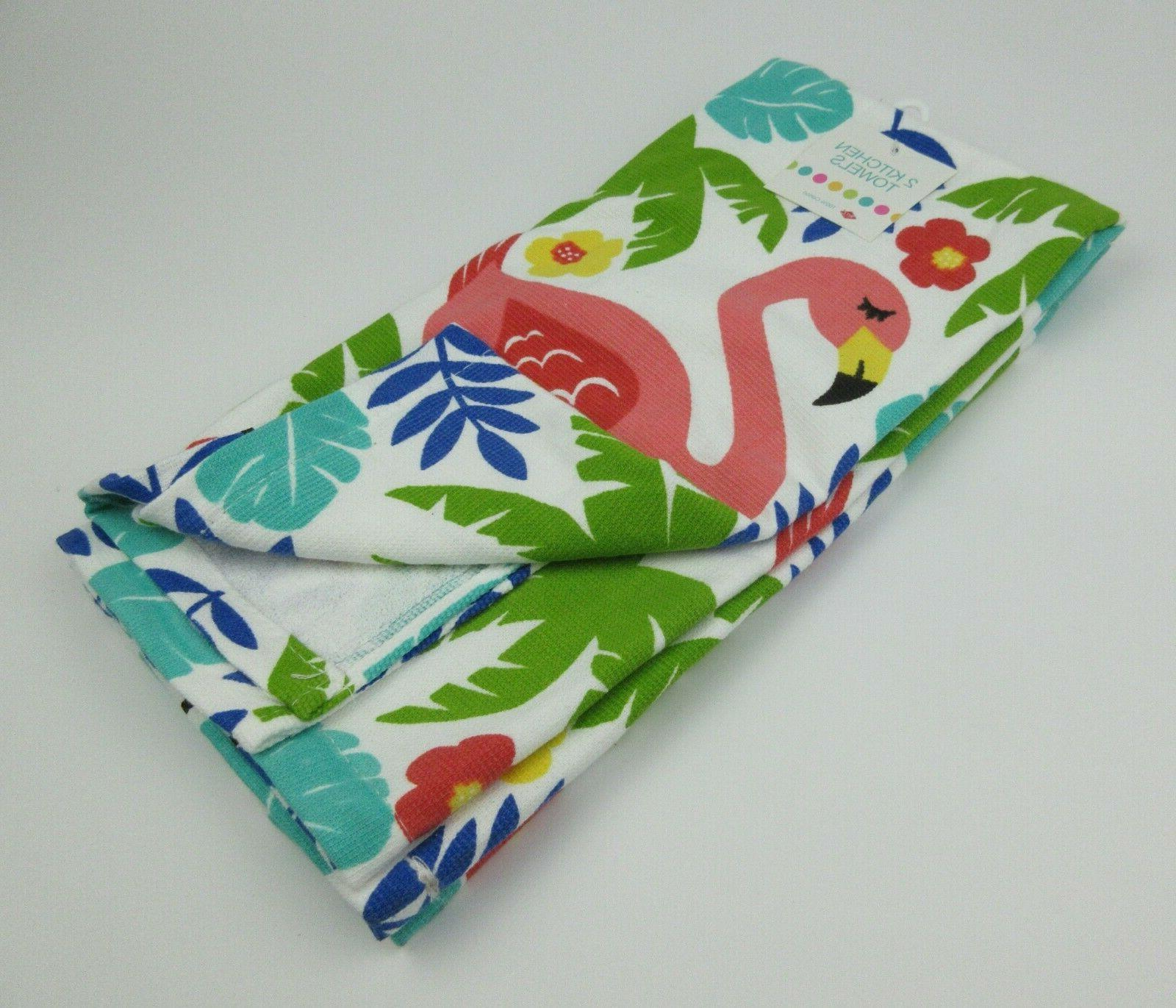 NEW Kitchen Towels 100% Cotton Summer Tropical Fruits
