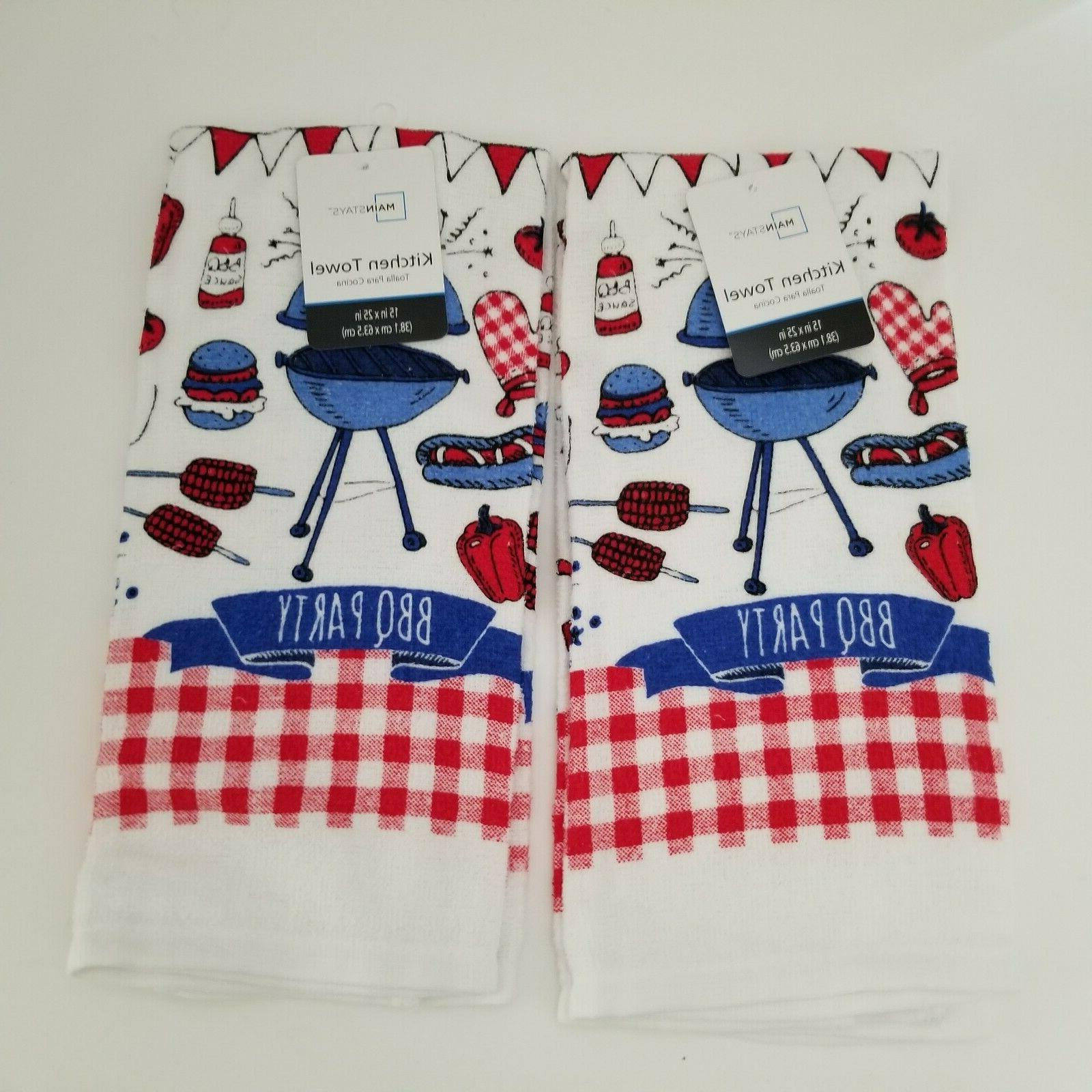 New Mainstays Kitchen Set of 2 July BBQ
