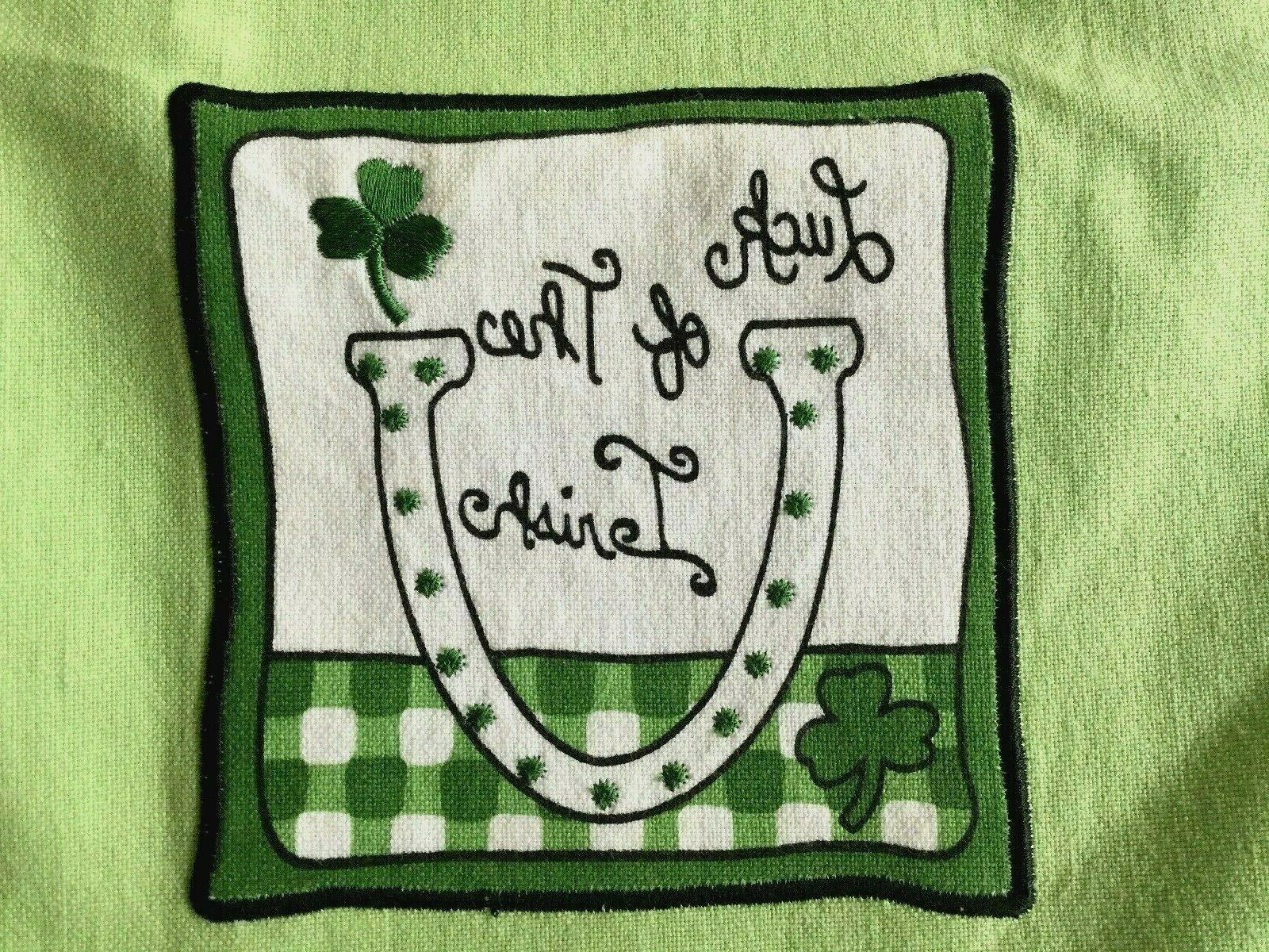 Ritz NEW 2 Patrick's Day Kitchen Green Luck Of Irish NWT