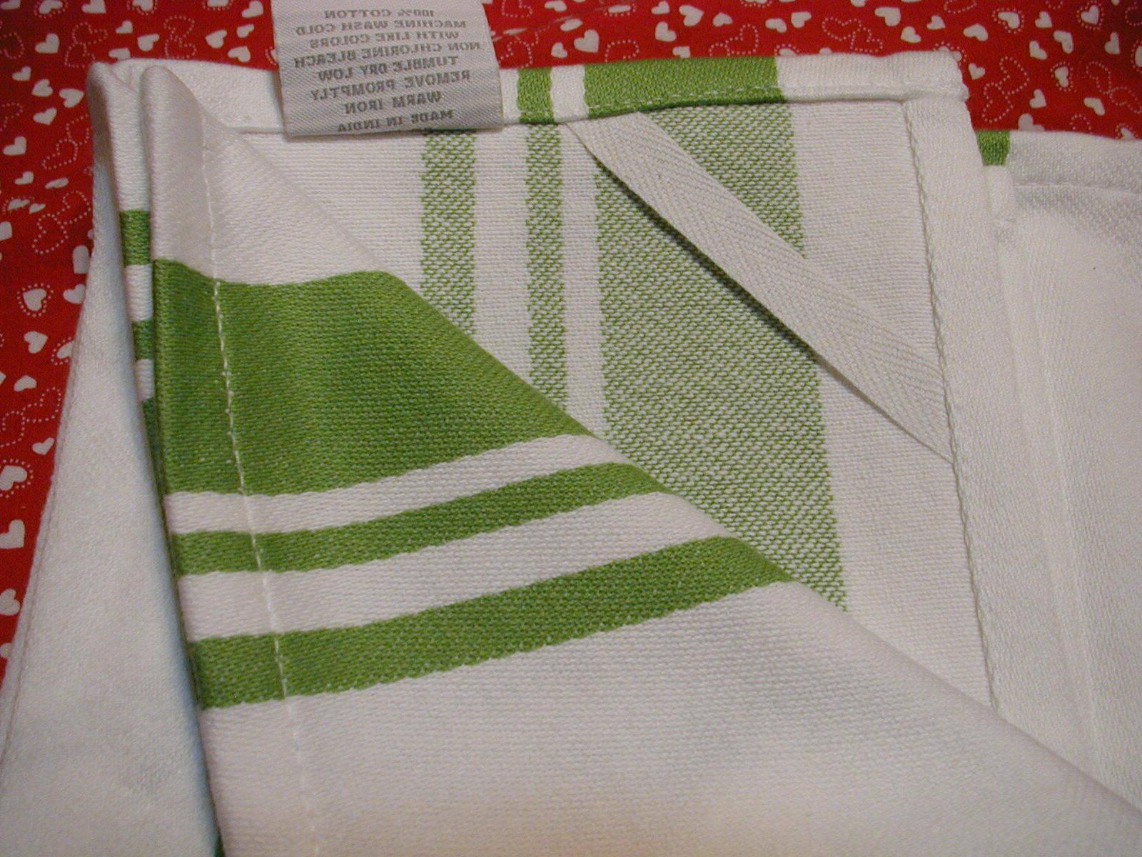 NWT KITCHEN OVERSIZE BASKET WEAVE GREEN AND WHITE