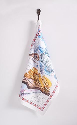 Maison d' Hermine Obernai 100% Set 3 Kitchen Towels Inch By 27.5