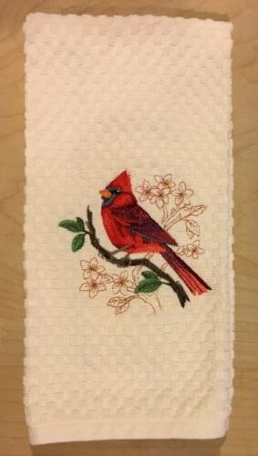 Pick Embroidered Birds Cardinal Robin Oriole Goldfinch Kitchen