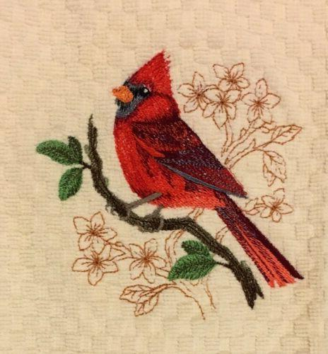 pick color embroidered birds cardinal robin oriole