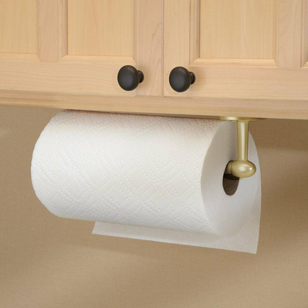 InterDesign Orbinni Paper Towel Holder for Kitchen, Wall Mount/Under