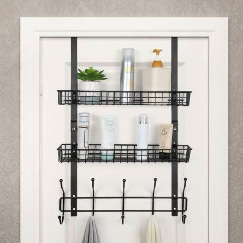 Over The Door/Freezer Storage Rack Kitchen Bathroom Coats To