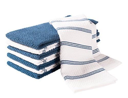 KAF Home Pantry Kitchen Towels 100% Cotton, Ultra Towels - Paris Blue