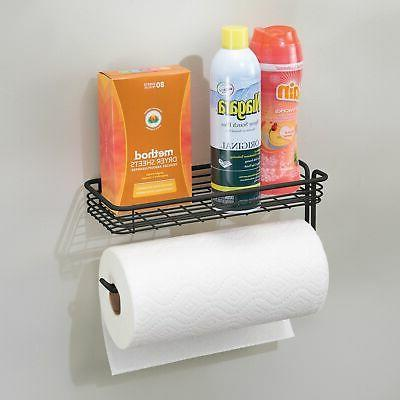 mDesign Paper Towel Holder with Kitchen, Garage - Mount