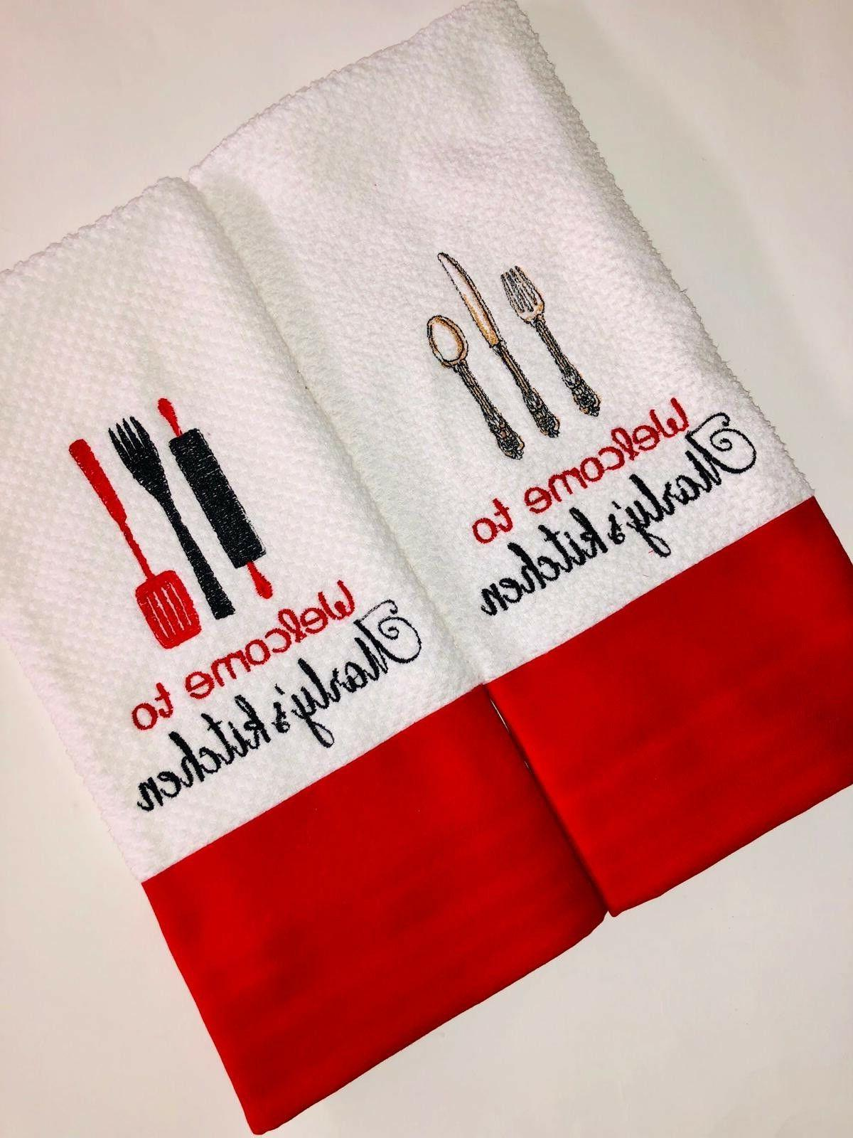 personalized dish kitchen towels various designs made