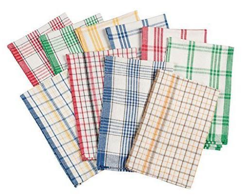 plaid kitchen towels