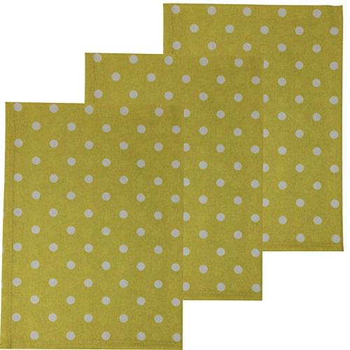 polka dot cotton kitchen towels