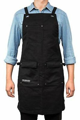 professional grade chef kitchen apron with double