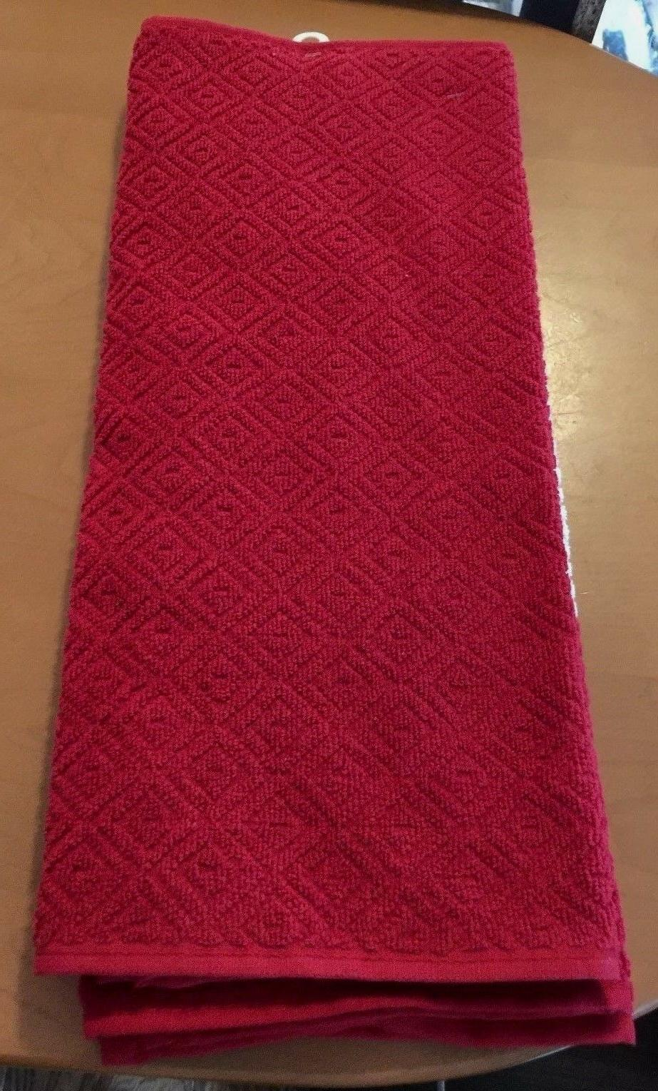 Home Cotton Red Kitchen Towels - 2pk