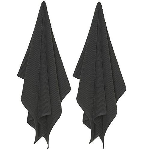 Now Ripple Kitchen Towel, Black