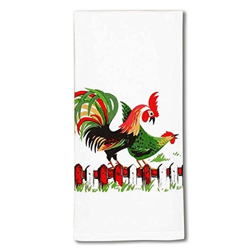 Rooster 40s Style Cotton Towel 17 x 24