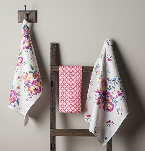 Maison Rose Garden 100% Cotton Of 3 20 by Inch