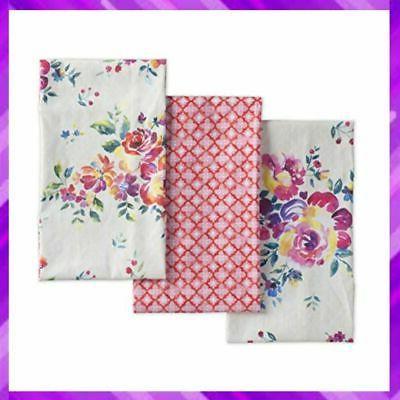 rose garden cotton kitchen towel