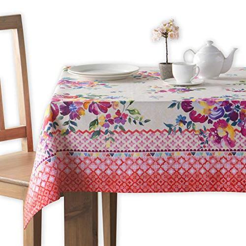 rose garden cotton tablecloth inch