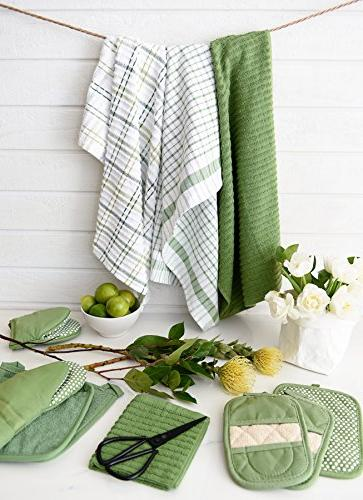 """Ritz Royale Collection 100% Combed Cotton, Absorbent, Oversized, Kitchen Towel Set, 28"""" 2-Pack, Cactus"""