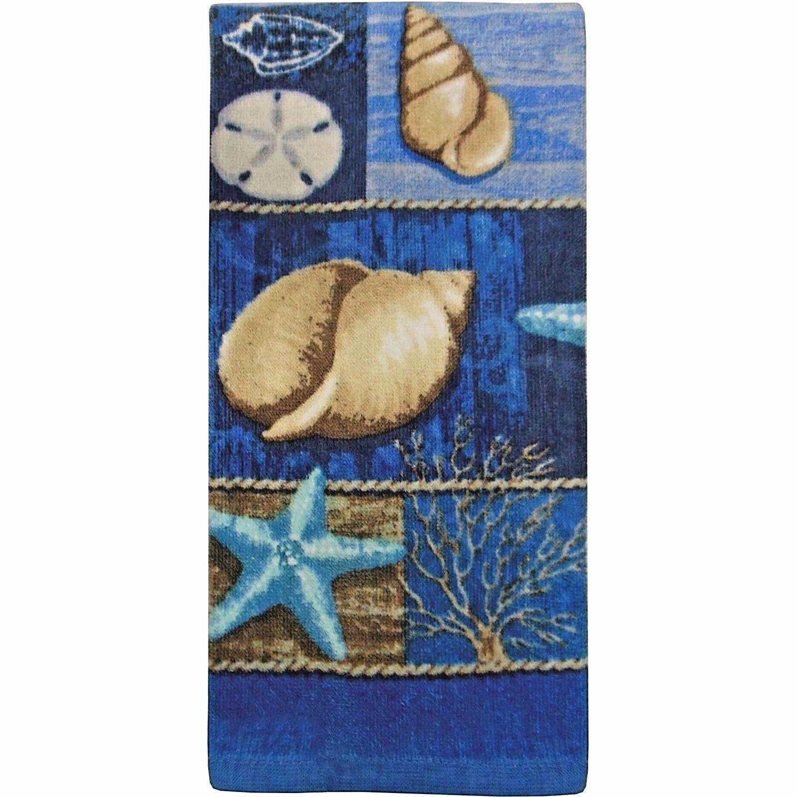 seashell kitchen towel nautical ocean