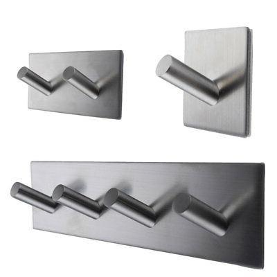 Self Adhesive Rack Towel Wall 304 Steel