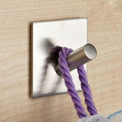 Self Hook Key Rack Kitchen Towel Hanger Wall Steel