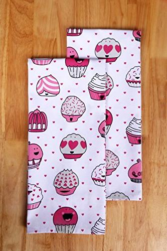 CASA Set Apron,Oven of Towels a Cakes Design, Made Cotton, Value and Set By
