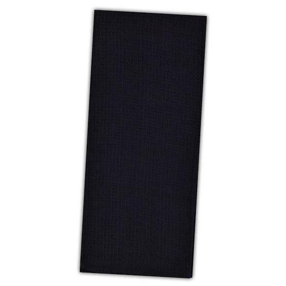 set of 2 black cotton waffle weave