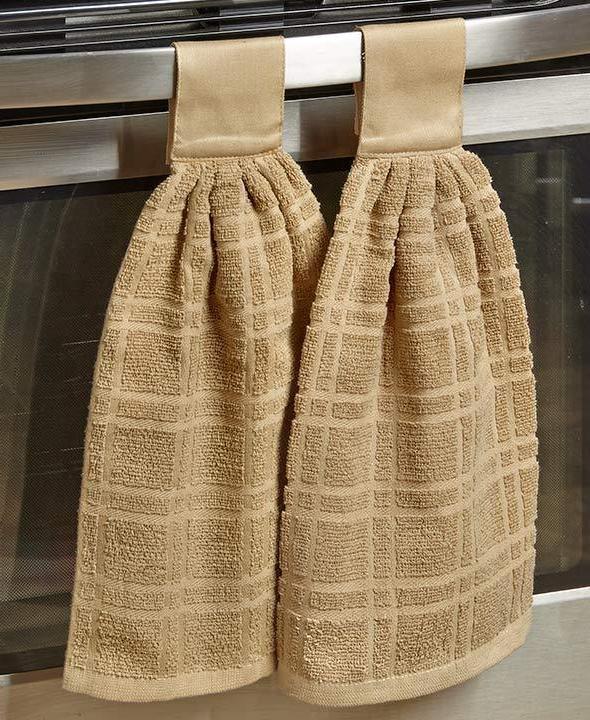Set 2 Cotton Towels Dish Towel Door