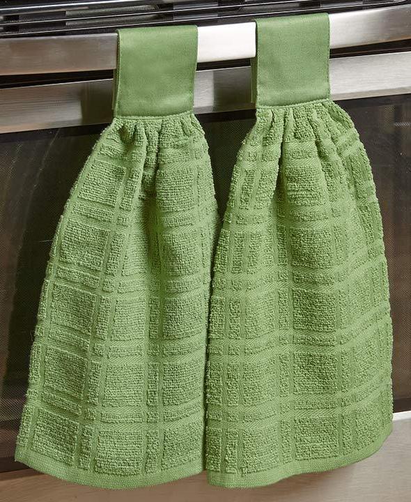 Set 2 Cotton Kitchen Towels Door In