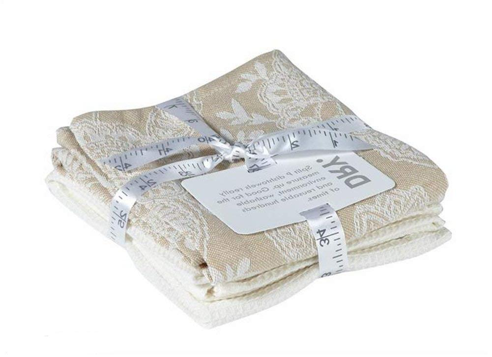 set of 2 kitchen towels one tan