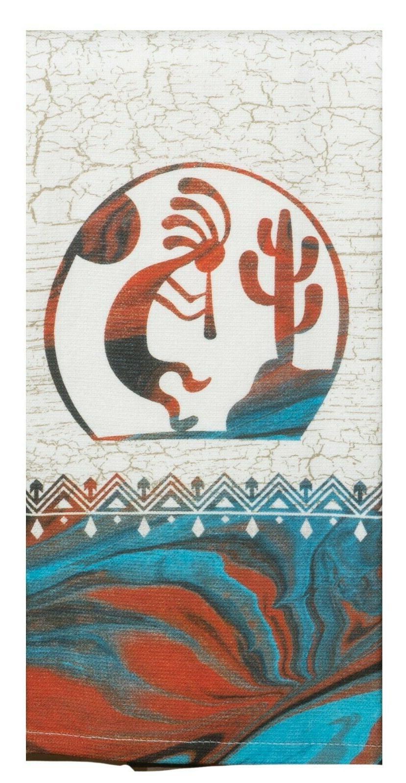 Set of 2 VISTAS Kokopelli Terry Towels by Kay Designs