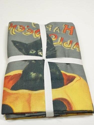 Set Sonoma Vintage Halloween Black Towels