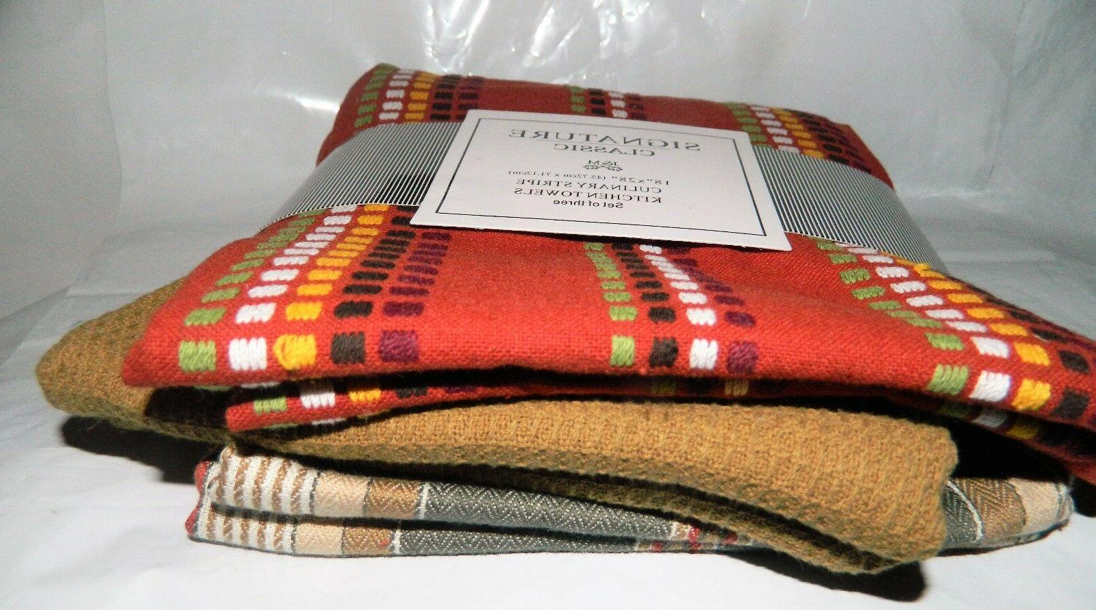 """Set of Towels Cotton Autumn Fall Classic 28"""""""