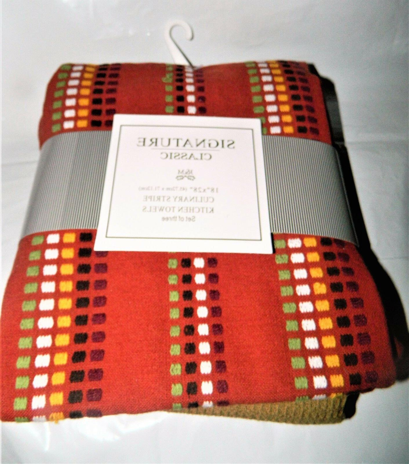 """Set of Towels 100% Cotton Autumn Fall Classic 18"""" 28"""""""