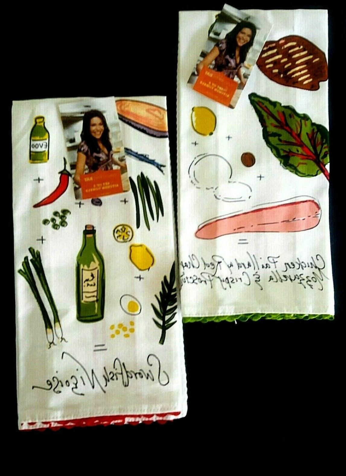 set of 4 recipe kitchen towels