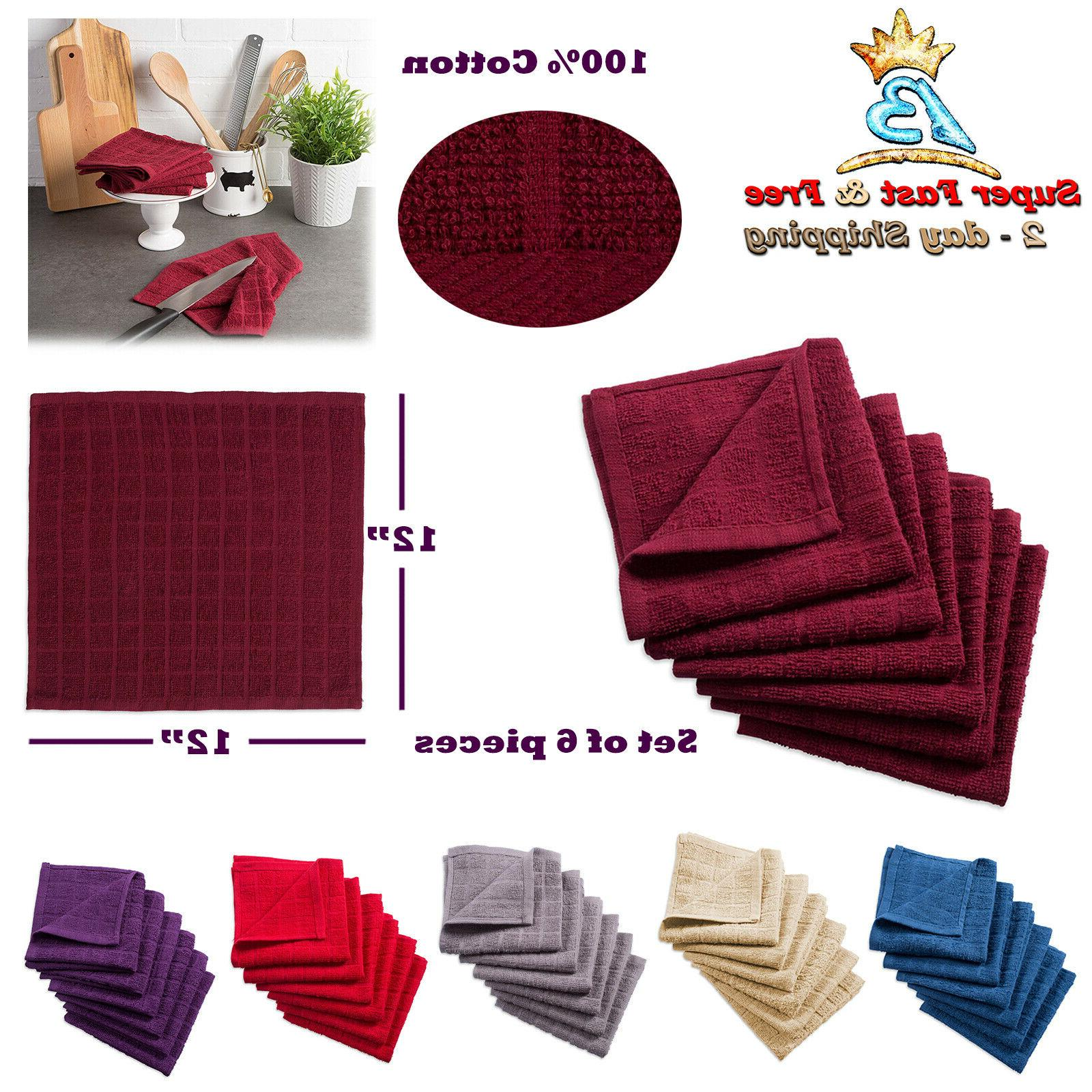 set of 6 kitchen dish cloth absorbent