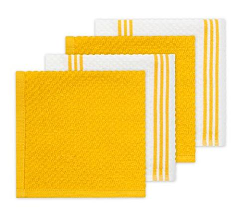 Sticky Toffee Oven & Pot Holder, Cotton Dish & Yellow, Set