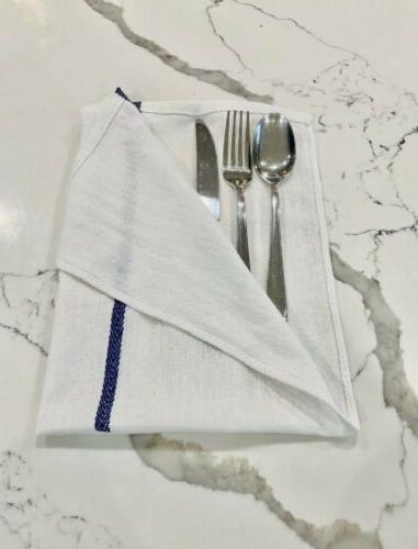 Dish Towels Bar 15x26 Herringbone Blue