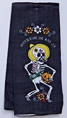 SKELETON 100% COTTON SET OF 2 KITCHEN TOWELS MADE IN INDIA 2