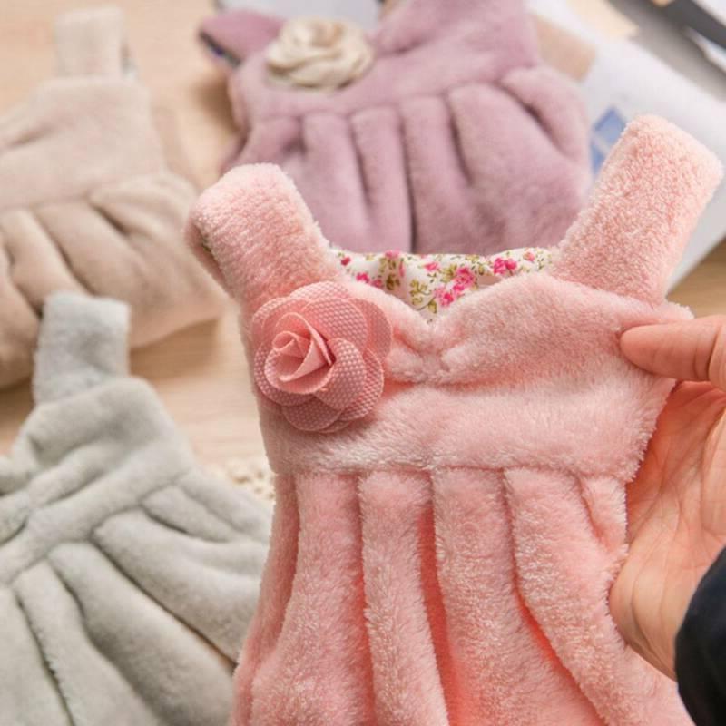 Soft Skirt Towels Kitchen Bathroom Hand Baby