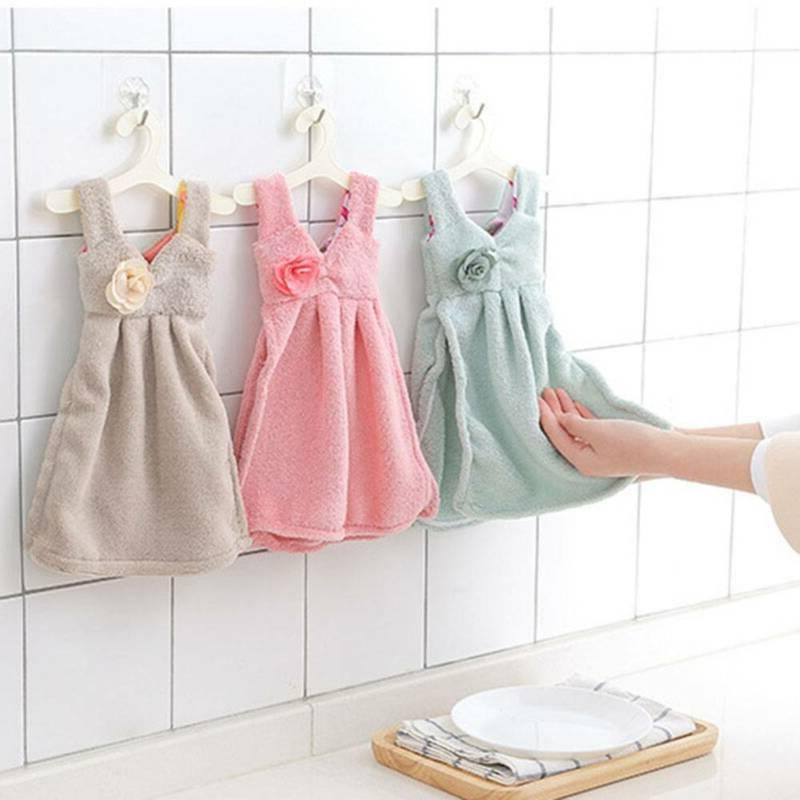 Soft Absorbent Skirt Kitchen Hand Towels Baby