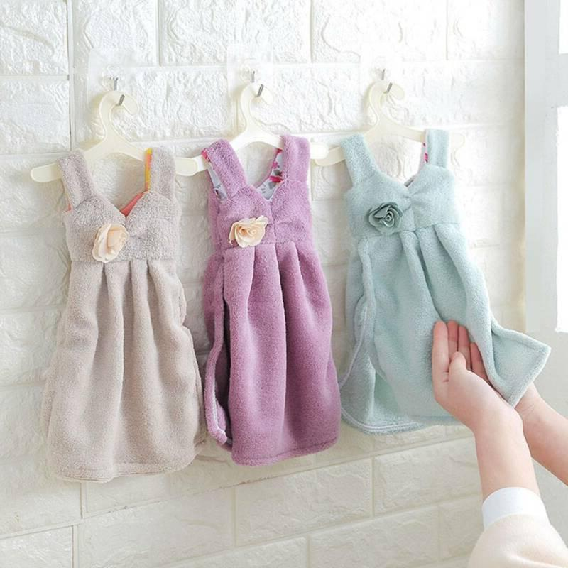 Soft Towels Kitchen Bathroom Hanging Hand Towels
