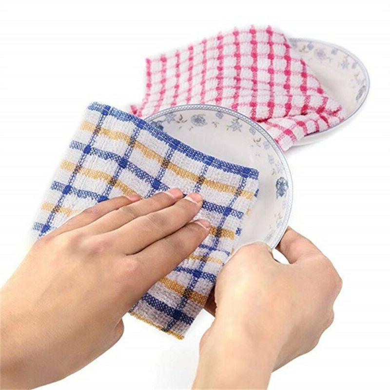 Tea Towels Cotton Kitchen Cloths Large Cleaning Dish