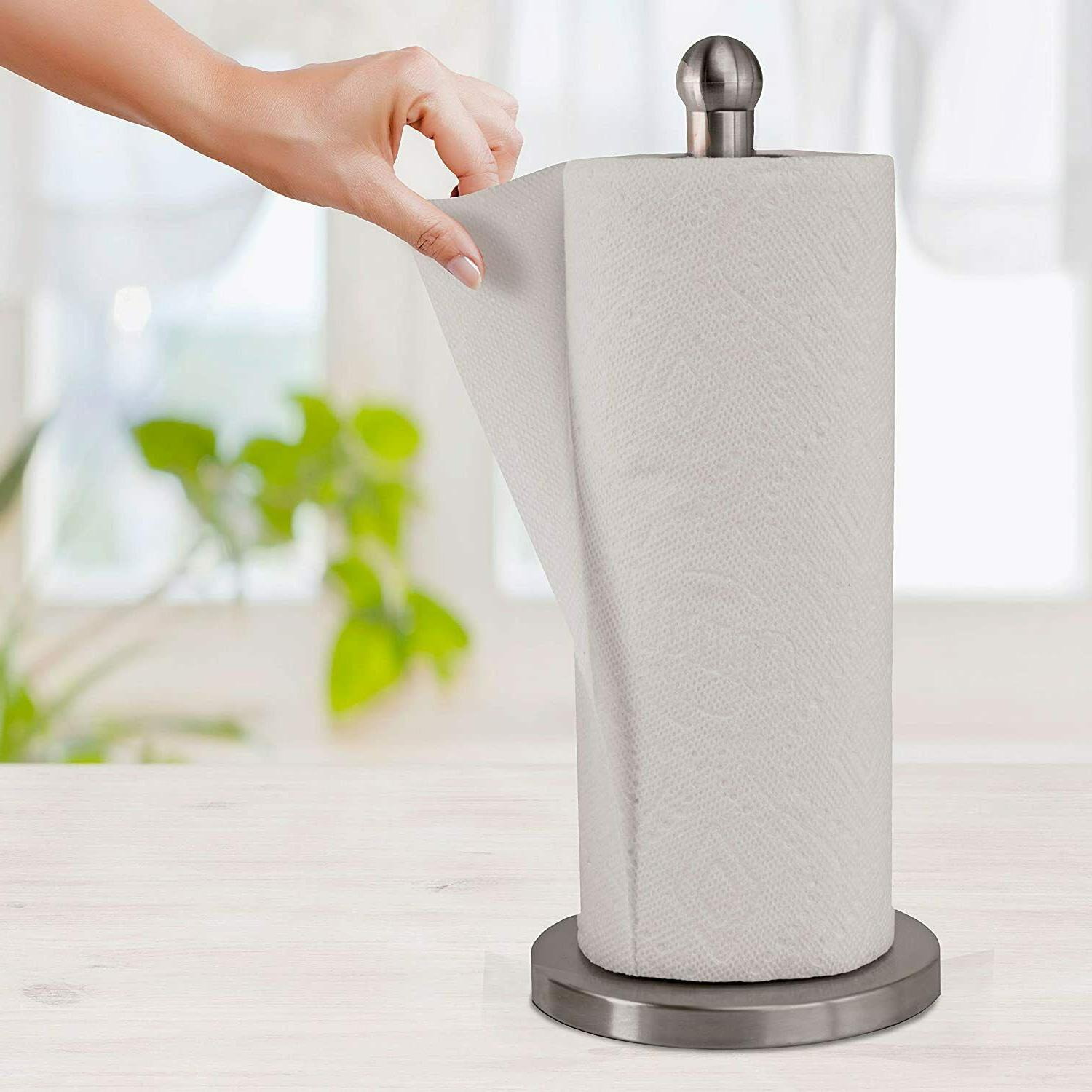 Stainless Steel Paper Towel Dispenser Weighted Base