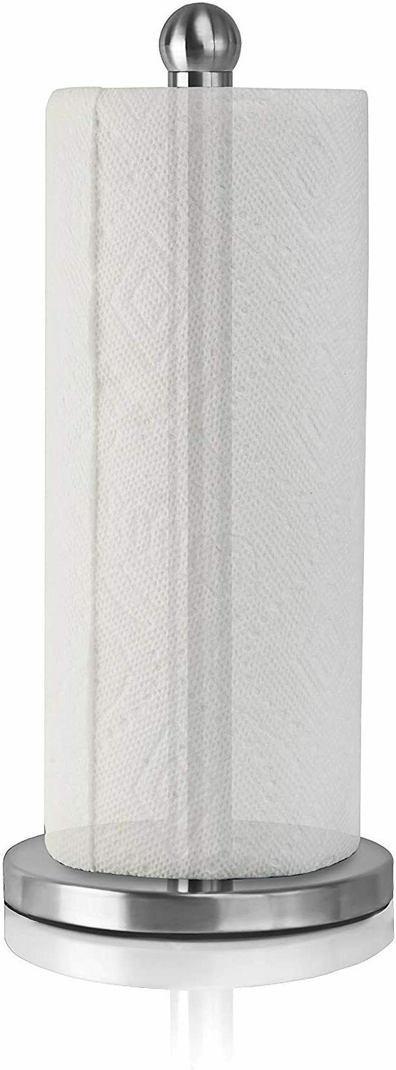 stainless steel paper towel holder dispenser weighted