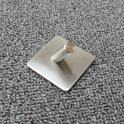Stainless Steel Hook Key Rack Kitchen Towel Wall