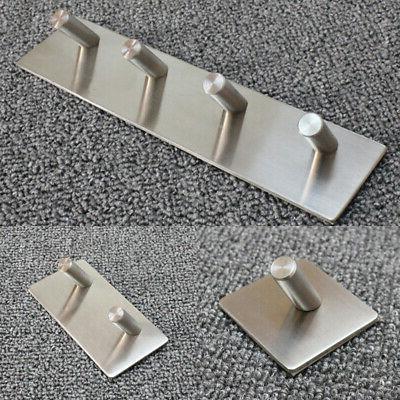 Stainless Steel Self Hook Key Rack Towel Hanger